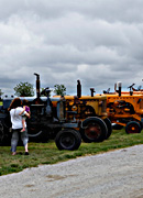 Historic tractors on display