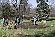 Rototilling soil for SOARRING companion garden