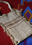 Don Clarke's handwoven stinging nettle bag