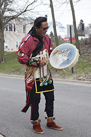 Native American Drummer
